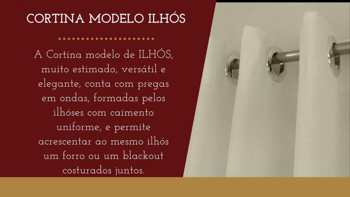 CORTINA MODELO ILHÓS