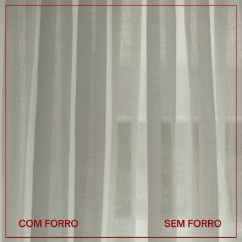 CORTINA LINHO POLIÉSTER + FORRO MICROFIBRA